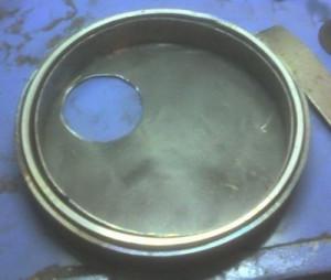Дверца метталической печи