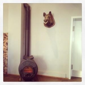 Печь Булерьян в интерьере дома