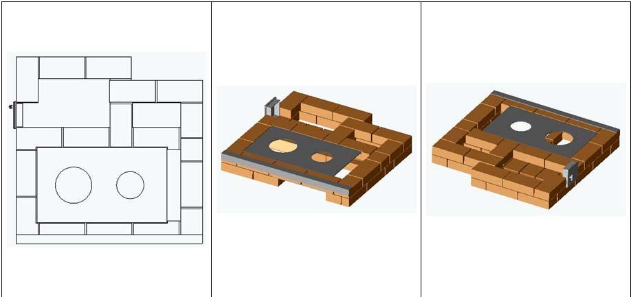 Установка плиты в печи с камином Рязанкина