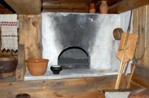 Курная русская печь