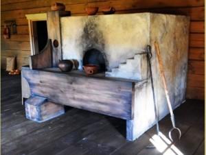 """Русские печи """"по-черному"""" в деревенском доме"""