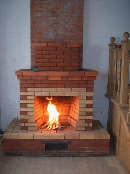 Простой камин с прямым дымоходом