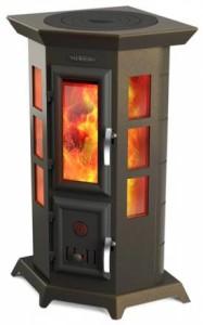 Дровяная интерьерная отопительно-варочная печь-камин «Термофор Статика Квинта»