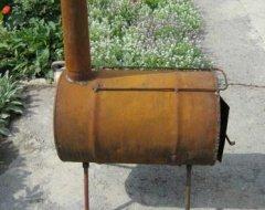 Горизонтальная печь для бани из трубы