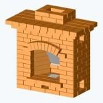 Мини-камин из кирпича для дачи