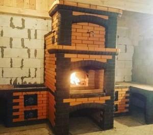 Мини русская печь в доме