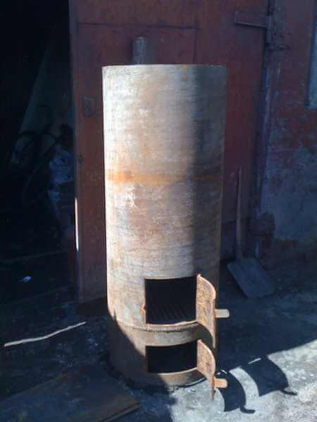 Печь для бани из металлической трубы