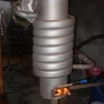 Печь на отработке с водяным контуром своими руками