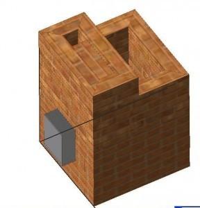 Порядовка каменки из кирпича этап 18