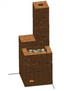 Порядовка каменки из кирпича этап 21