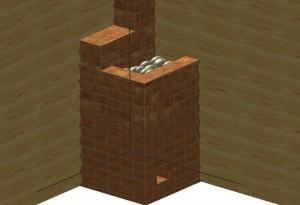 Порядовка каменки из кирпича этап 25