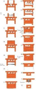 Порядовка каминопечи с духовым шкафом 15-32 ряды