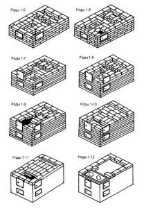 Порядовка русской мини печи с водогрейной коробкой 5-12 ряды