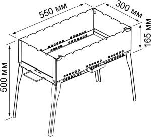Схема раскладного мангала