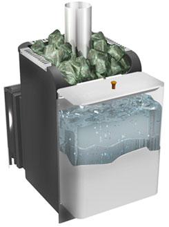 Банная печь с баком для воды