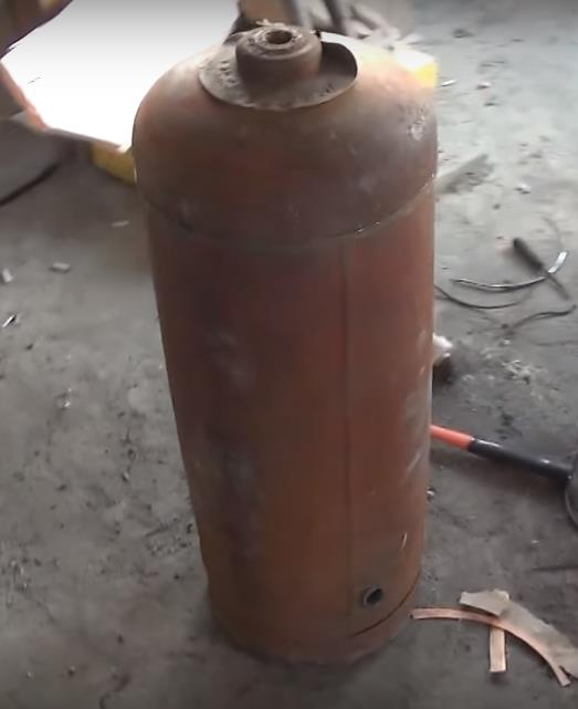 Газовый баллон под печь