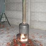 Буржуйка из газового баллона на дровах