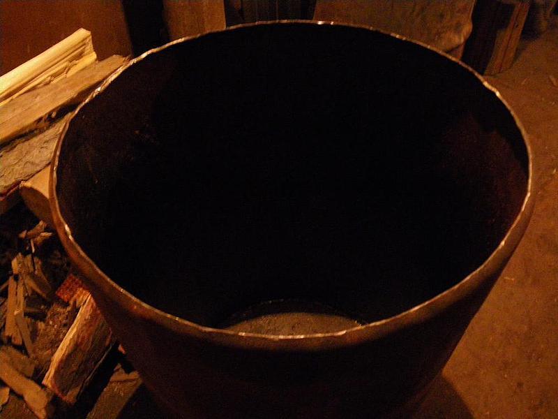 Печь из железной бочки