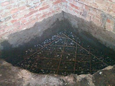 Фундамент для углового камина