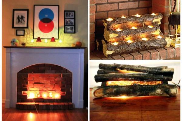 Имитация огня в камине