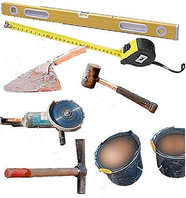 Инструменты для кладки камина
