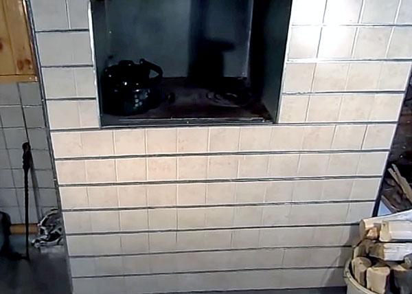 Обкладываем печь плиткой без клея