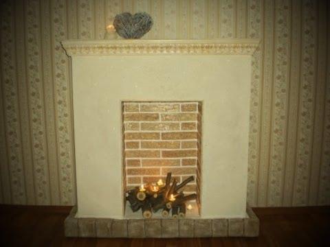 Декоративный камин на Новый год и Рождество из картона