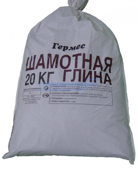 Мешок шамотной глины