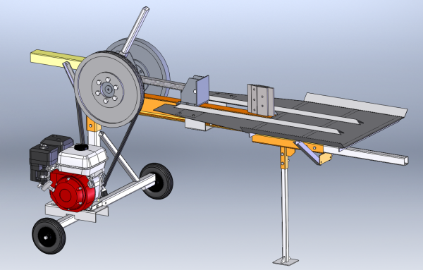 Модель реечного дровокола