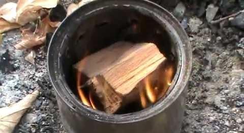 Самодельная печь для палаток