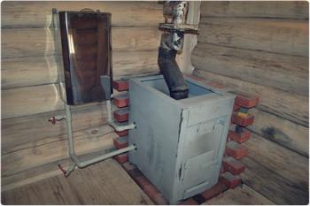 Печь в бане с термокраской