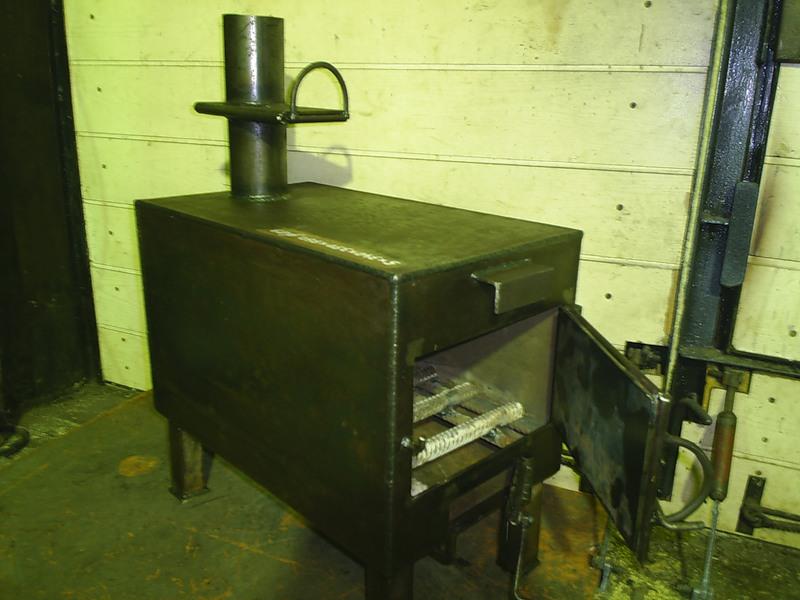 Самодельная печь для гаража Логинова