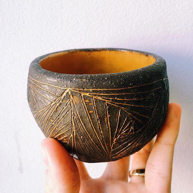 Пиала из шамотной глины