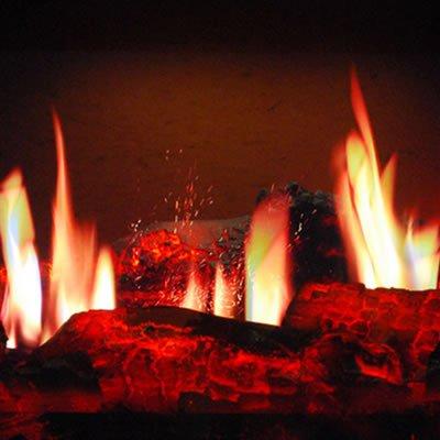 Имитация огня в камине своими руками