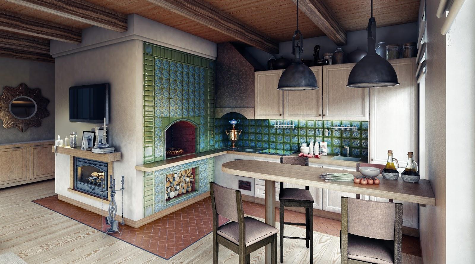 Дизайн дома с печкой фото