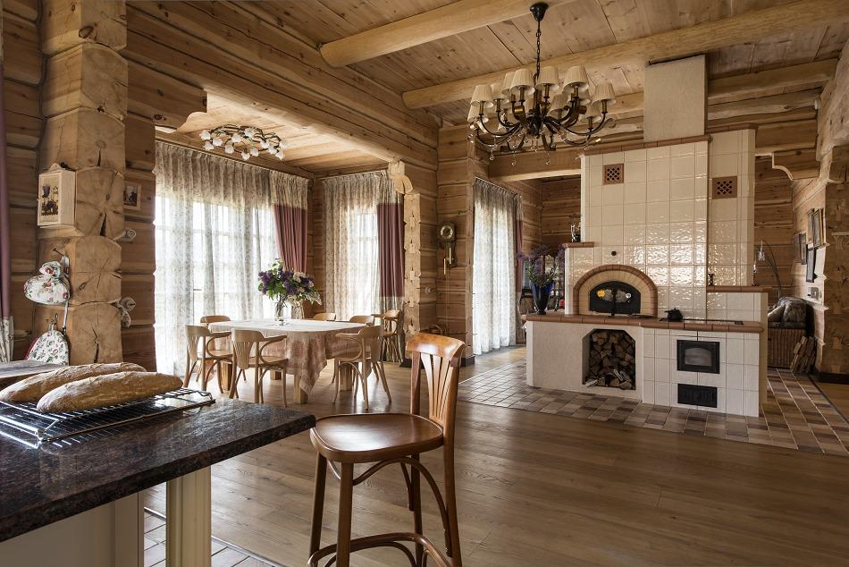 Стильная русская печь в доме