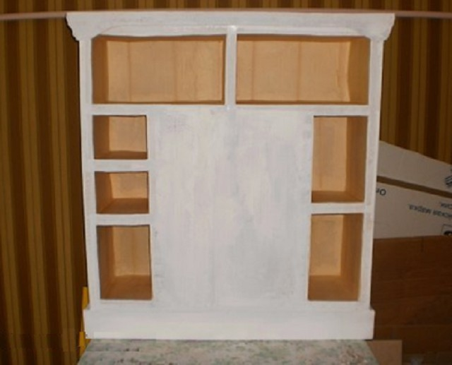 Задняя стенка картонного камина