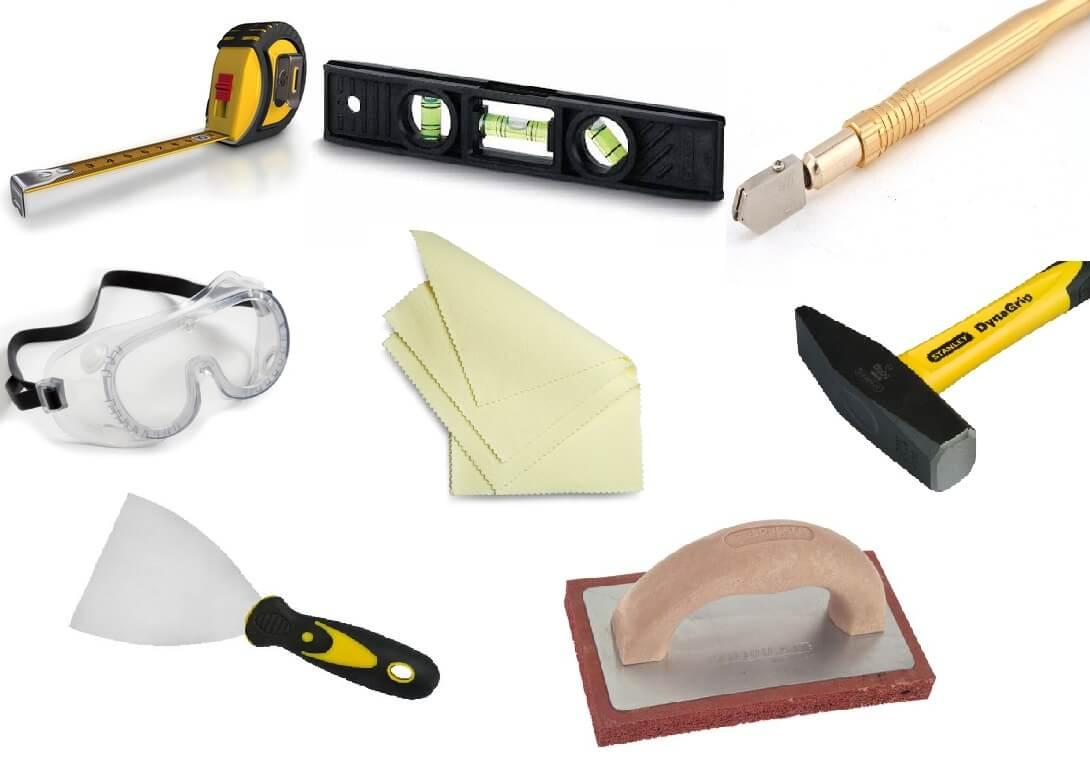 Инструменты для облицовки печи плиткой