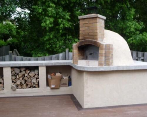 Установка дымохода на помпейскую печь