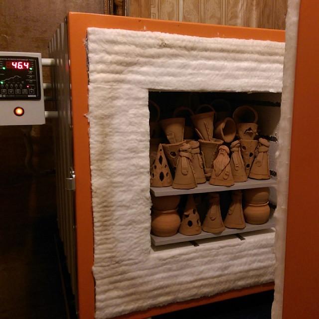 Обжиг керамики в муфельной печи