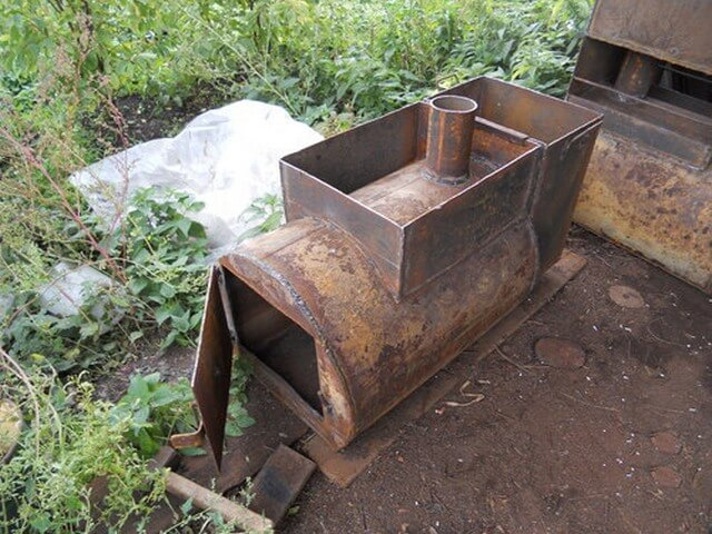 Банная печь из металла своими руками