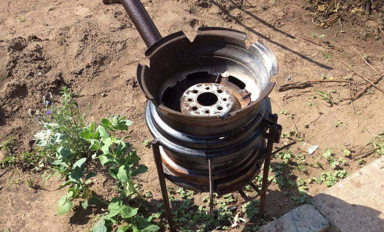Варианты изготовления печи из колесных дисков своими руками