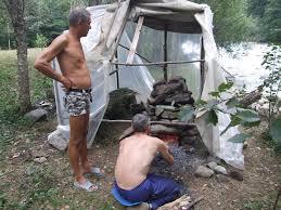 Печка для походной бани