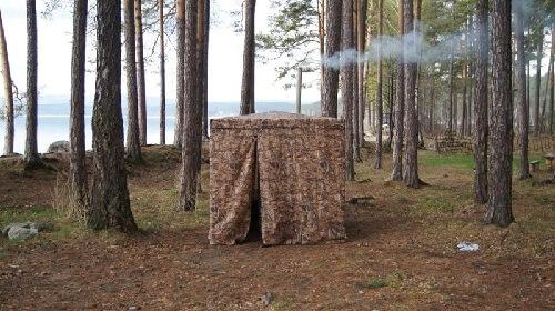 Походная баня в лесу