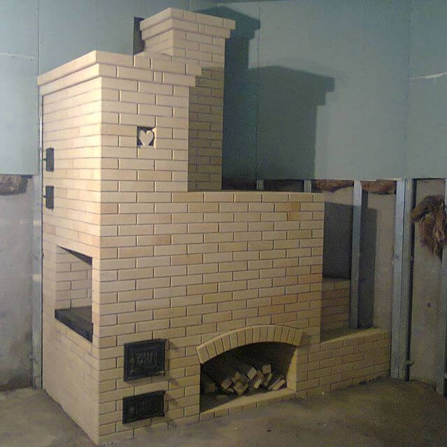 Русская печь с плитой и лежанкой