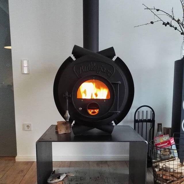Печь длительного горения с камерой догорания
