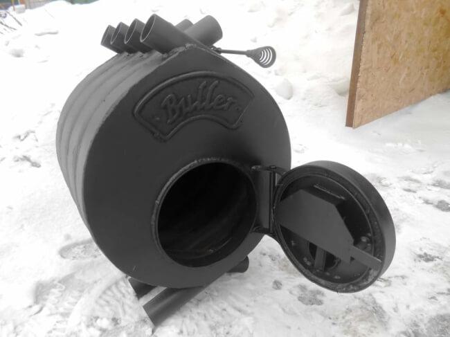 Отопительная печь «Булерьян» («Бренеран») с водяным контуром