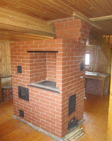 Кирпичная дровяная печь для дома