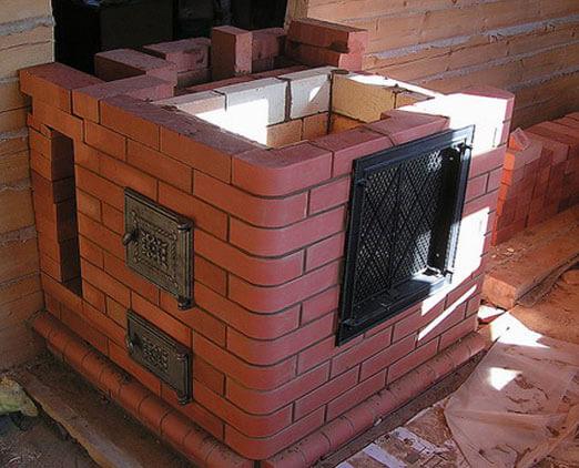 Печь для гаража из кирпича