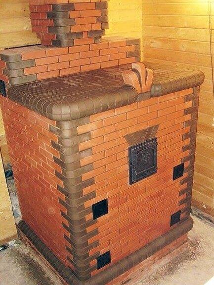 Печь с закрытой каменкой для бани